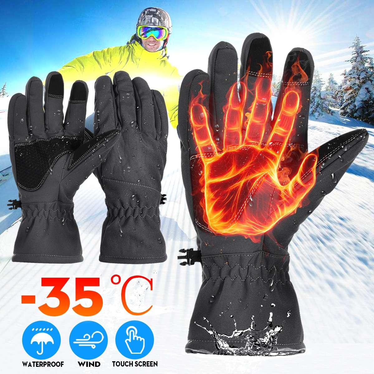 Luvas da motocicleta luvas aquecidas à prova dwaterproof água guantes moto inverno tela sensível ao toque luvas de motocross da motocicleta