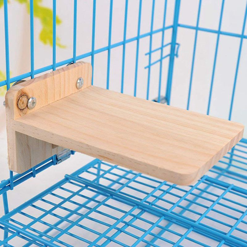 Wooden Hamster Chinchilla Platform Springboard Wooden Small Animal Platform For Cage