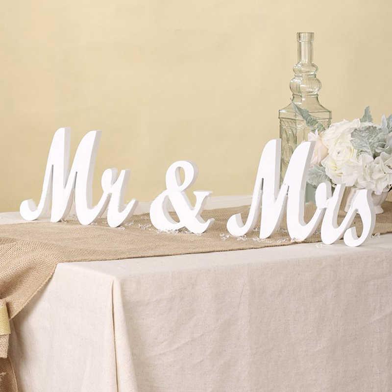 1 * буквенные украшения Mr and Mrs буквенные вывески деревянная стойка верхнее украшение свадебного стола