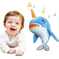Car Interior Decoration Narwhal Baby Plush Toy Soft Safe Comfortable Music Doll for Children Boys And Girls Car Accessory