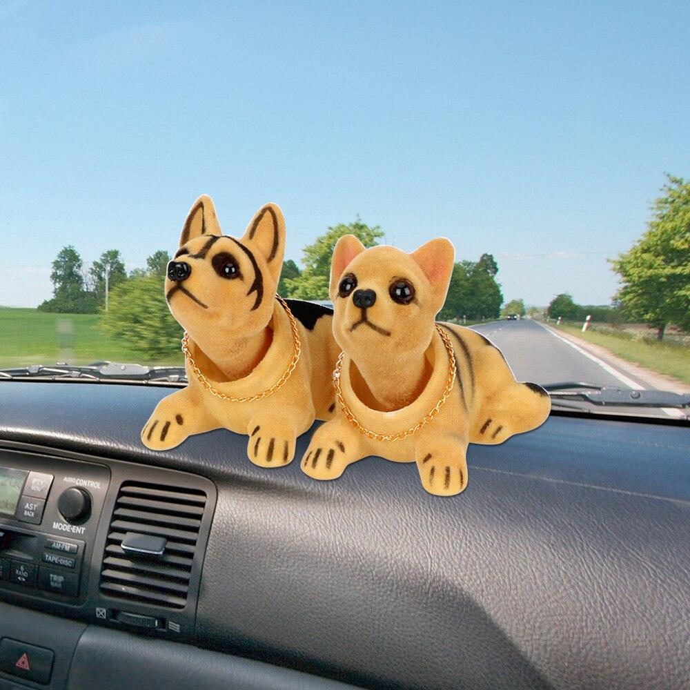 Auto Shaking Head Toy Air Freshener Bobble Head Doll Car-styling Car Dashboard Nodding Dog Car Ornaments Interior Accessories