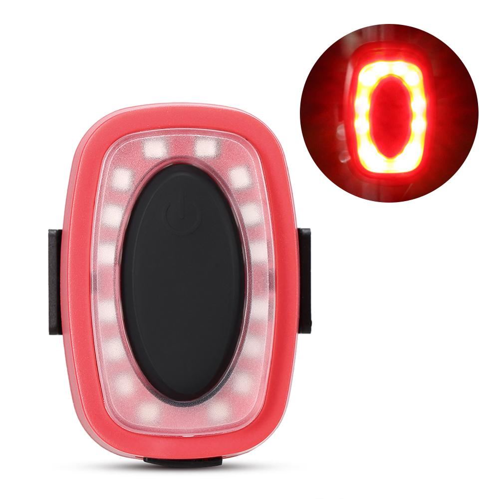 Bike Taillight Blinker Cycling Safety Rechargeable Red Strap-On