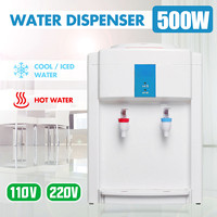 Mini Desktops Electric Water Dispenser 110V/220V Cold&Hot Ice Water Cooler Household Water Heater Office Coffee Tea Bar Helper