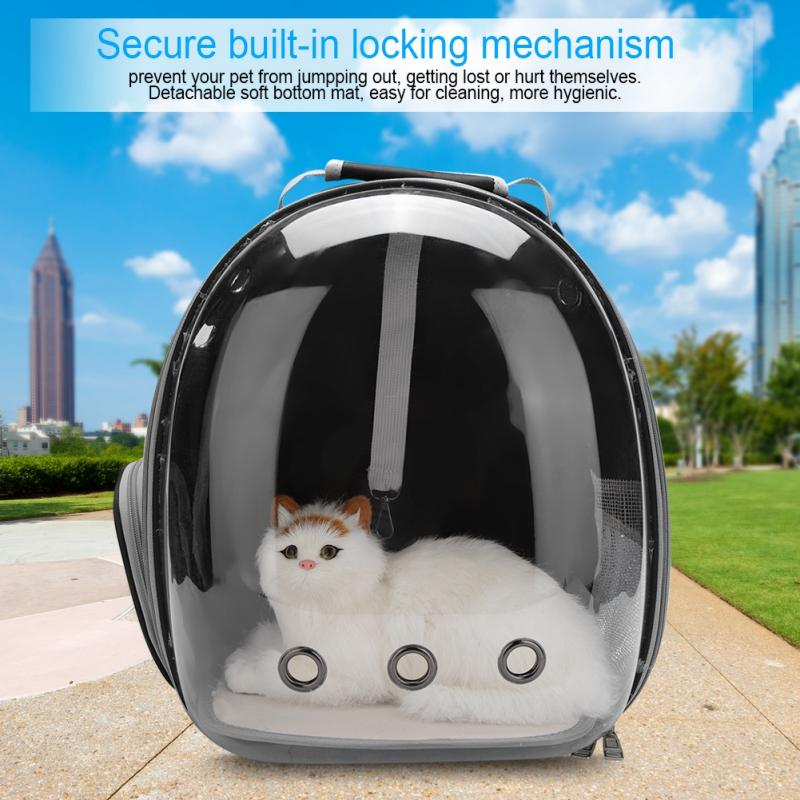 5 Colors Portable Pet Cat Carrier Transparent Capsule Breathable Cat Bag Outdoor Travel Dog Cat Backpack