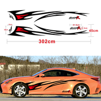 Car styling Racing Flame Graphics Car Stickers Auto Body Decor Cover Decals for FORD FOCUS 2 VW KIA RIO MAZDA 3 SKODA CRUZE