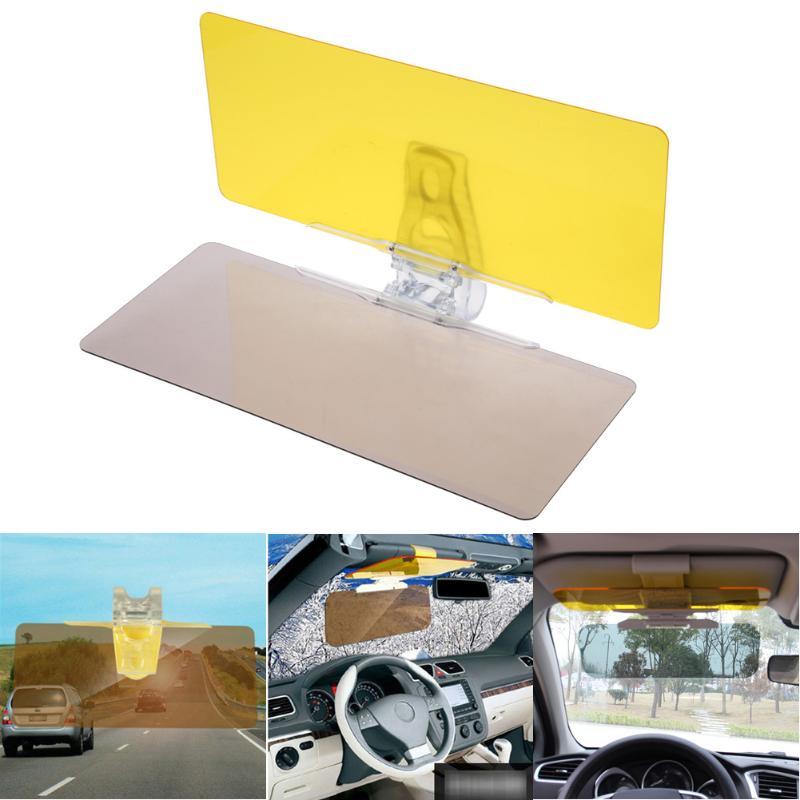 1 ppiezas parasol de coche HD Anti luz del sol deslumbrante Goggle día visión nocturna espejo de conducción UV plegable vista clara estilo de coche