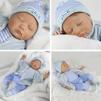 55cm Soft Silicone Reborn Dolls Baby Realistic Doll Reborn 22 Inch Full Vinyl Boneca BeBe Reborn Doll Kid Gift