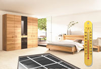 65 Square meter floor Heating film with 9C thermostat and all other accessories
