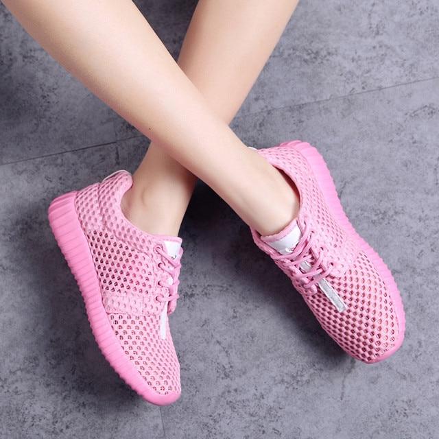 Размеры 35-44; унисекс; кроссовки; женская обувь; сетчатая обувь на плоской подошве; Розовая Летняя обувь; женские кроссовки; легкая мужская обувь; zapatos mujer