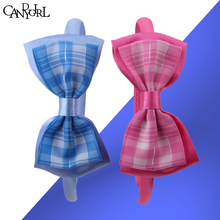 Free Shipping Classical plaid Headdress Bowknot hairpins headband barrettes girls hairbands hair Accessory