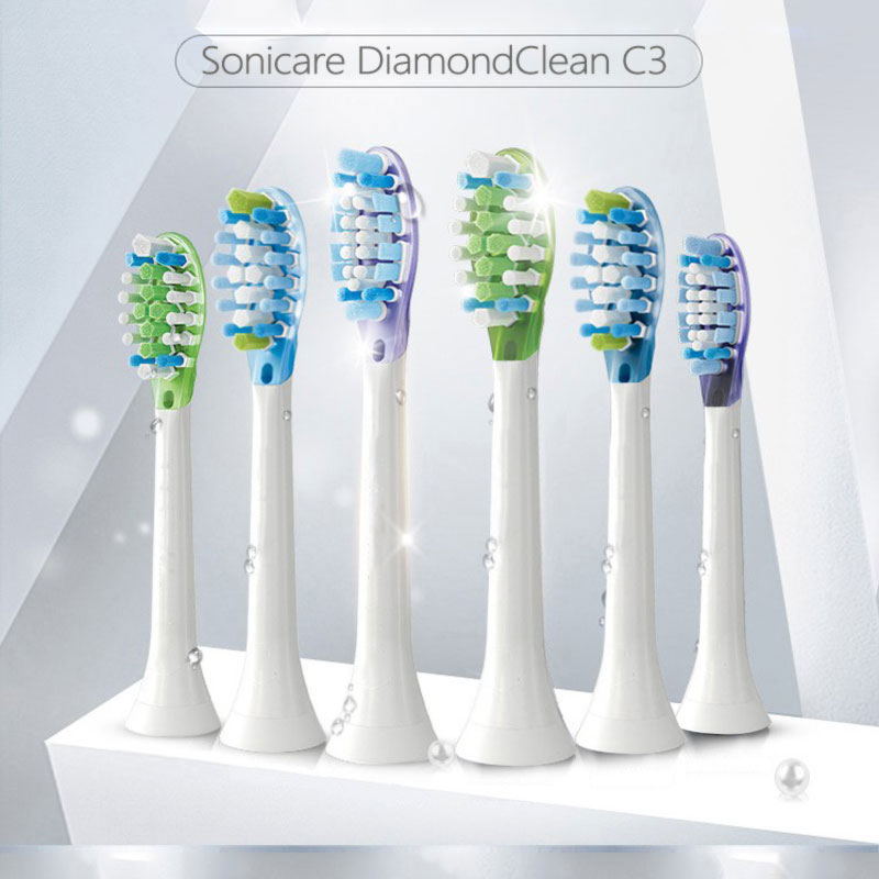 For Philips Sonicare Premium Plaque Control replacement toothbrush heads, HX9044/95 HX6930 HX9340 HX6950 HX6710 HX9140 HX6530 image