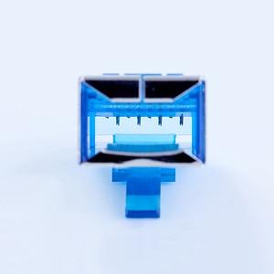 Image 2 - xintylink blue rj45 connector cat6 rg rj 45 ethernet cable plug 8P8C cat 6 rg45 shielded network stp modular keystone jack 50pcs