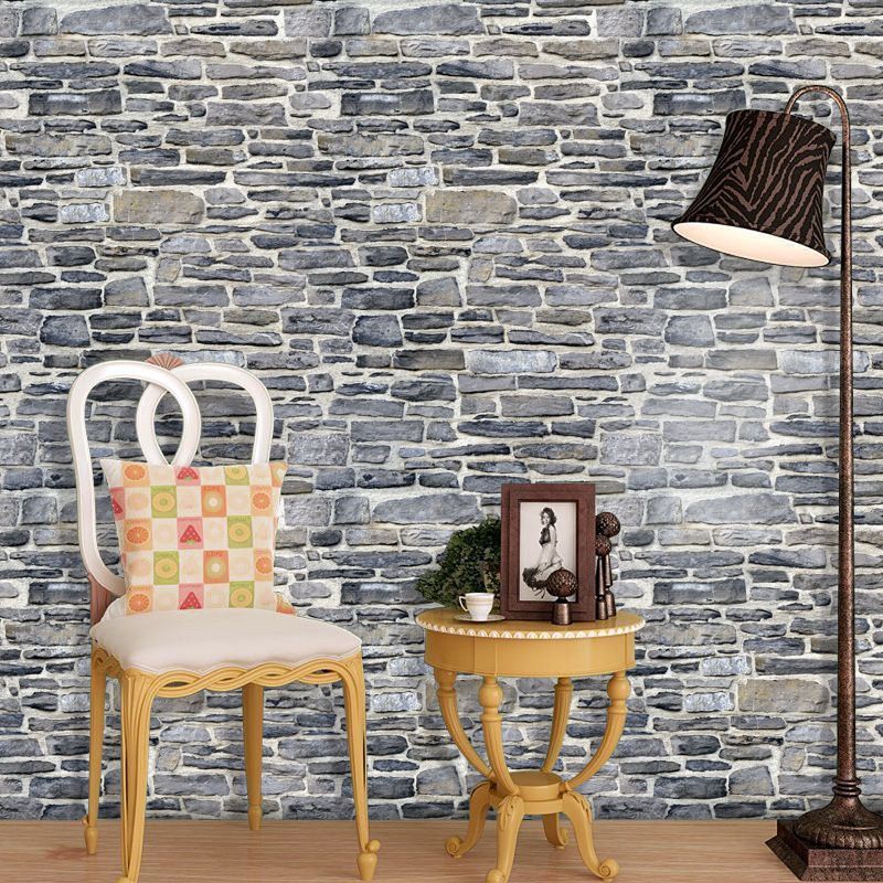 3d PVC Brick Pattern To Fake Something Antique Wallpaper Bar Internet Café Hotel Toggery Background Wall Sticker