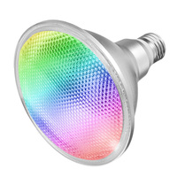 E27 20W For Home Lamp Waterproof Bulb Led With Remote Control Dimmable 16 Color Changing RGB Floodlight Spotlight