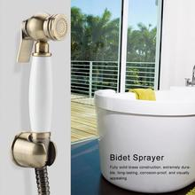 Wall Mount Shower Toilet Bidet Sprayer Bathroom Handheld Bidet Diaper Spray Sprayer Kit Solid Brass Shower Bidet Faucet Set bathroom toilet hand held shattaf bidet diaper sprayer kit wall mount golden toilet flusher bidet sprayer set