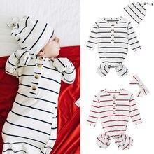 Комплект для новорожденных: Топ в полоску детская кроватка спальные спальный костюм; Обёрточная бумага Пеленальный Халат