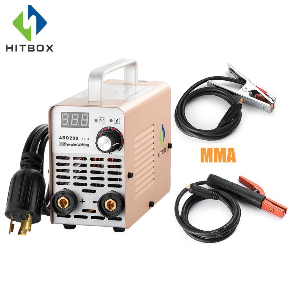 HITBOX Arc Welder 220V DC MMA ARC200 200A IGBT Inverter Welding Machine Beginner s Choice 3KG