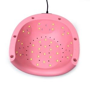 Image 4 - Lampe sèche ongles UV lampe LED pour ongles W, double lumière à polymérisation, avec écran LCD de fond, pour photothérapie, outils dongle
