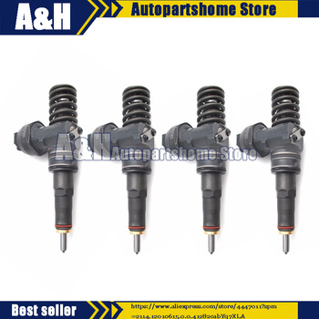 4 Pcs Remanufactured Fuel Injector 038130073BA CD For VW Passat Audi Skoda 1.9 TDI Bosch Diesel