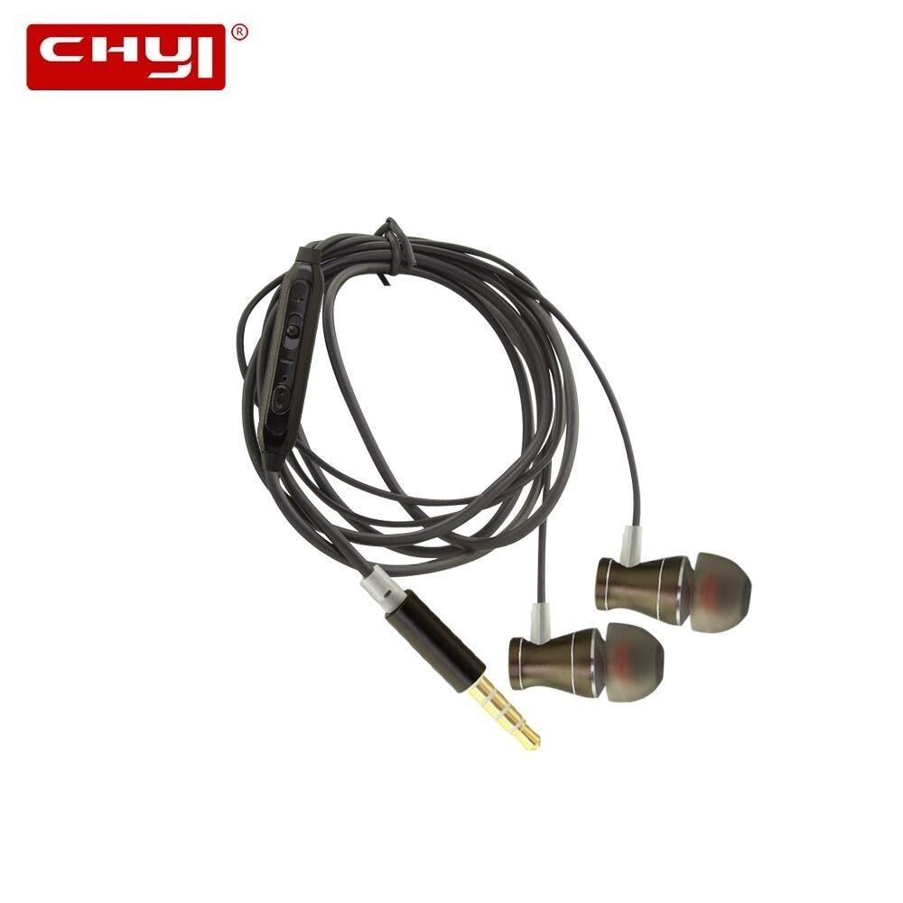 Eerlijkheid Chyi Magneet Metalen Oortelefoon In-ear Oortelefoon Sport Headset Handsfree Bedraad Oortelefoon Voor Iphone 7 8 Plus