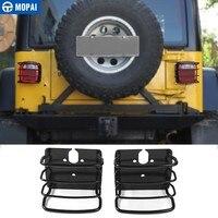 Mopai lâmpada capuzes para jeep wrangler 1997-2006 traseira do carro luz da cauda lâmpada capa proteger para jeep wrangler tj acessórios do carro