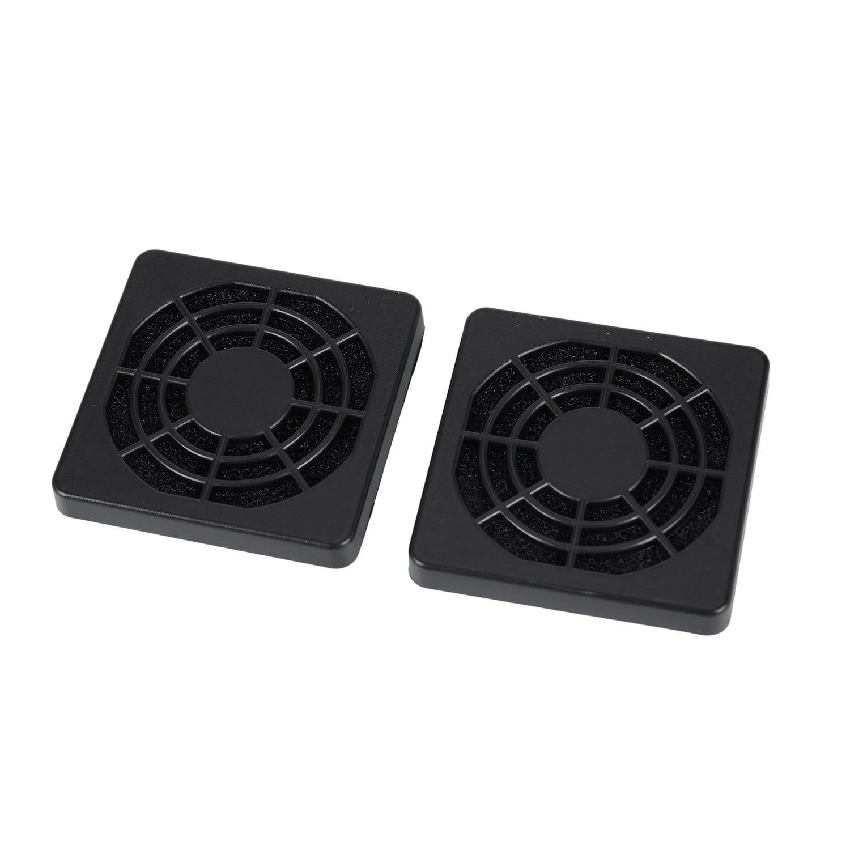 2 Piezas A Prueba De Polvo De Filtro De Polvo De Guardia De La Parrilla Para 50mm Pc Ventilador De Caja Brillo Brillante