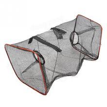 VIM Outdoor Folding Fishing Net Crab Fish Crawdad Shrimp Minnow Fishing Bait Trap Cast Dip Net Cage Mesh Trap Casting Network недорого