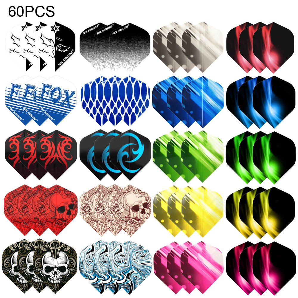 Fox Smiling Dart Flights Multiple Styles Colorful 60PCS PET Darts Flights Newly Dart Accessories(China)