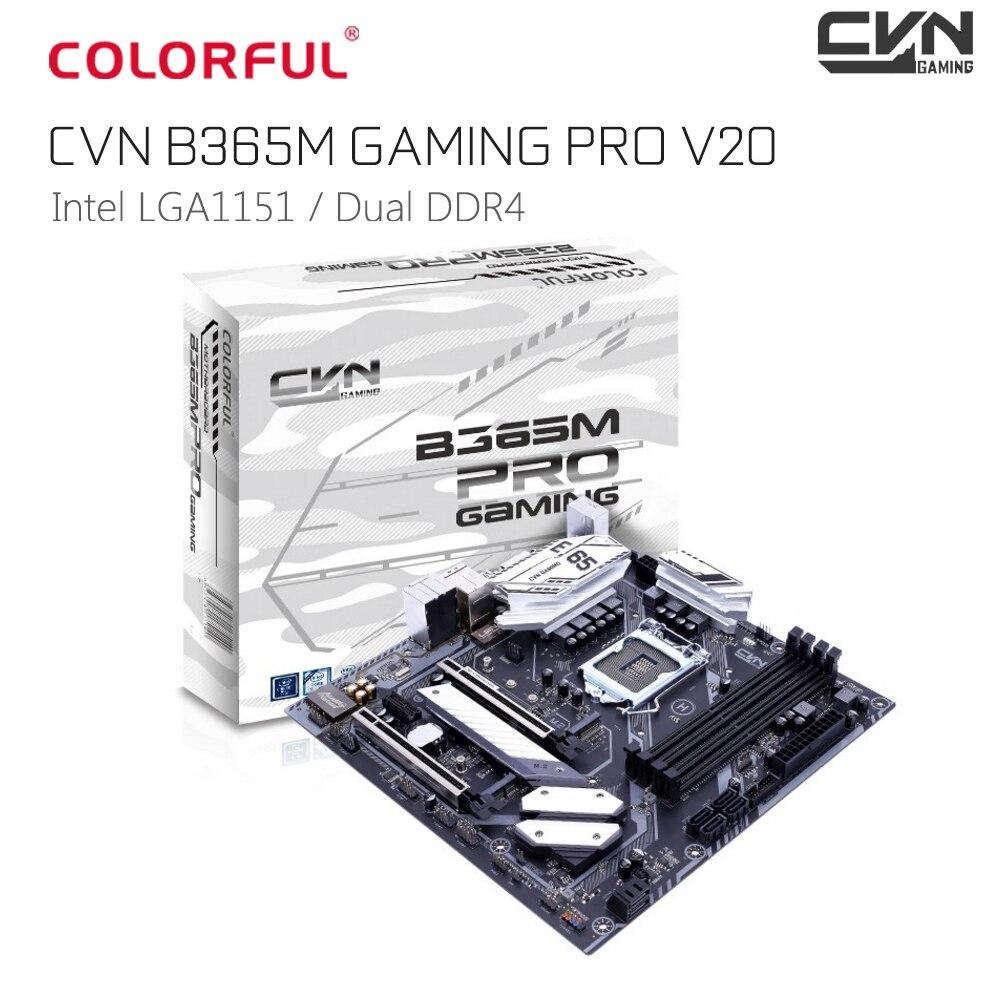 Оригинальный красочный CVN B365M GAMING PRO V20 mATX Материнская плата Intel LGA1151 B365 двухканальный DDR4 M.2 SATA3.0 USB3.1 HDMI DVI