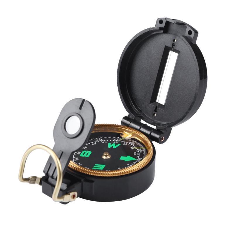 British Lensatic Metal Compass Hiking Military Camping Navigation Orienteering