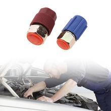 Автомобильный адаптер для переоборудования от 7/16 до 3/8 R12 до R134a Высокий/Низкий фитинг переменного тока для автомобильного кондиционера автомобильные аксессуары