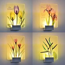 цены Bedroom Acrylic Bedside Wall Lamp Led Sconce Indoor Sconce Wall Lights Bathroom Lighting Mirrors Painting Light