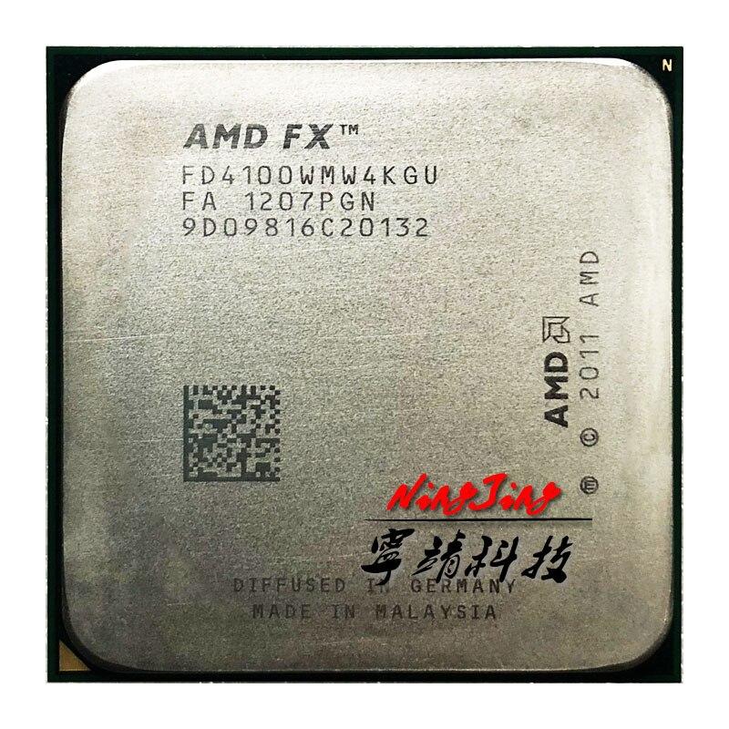 Amd fx-series fx4100 FX-4100 fx 4100 3.6 ghz processador cpu quad-core fd4100wmw4kgu soquete am3 +