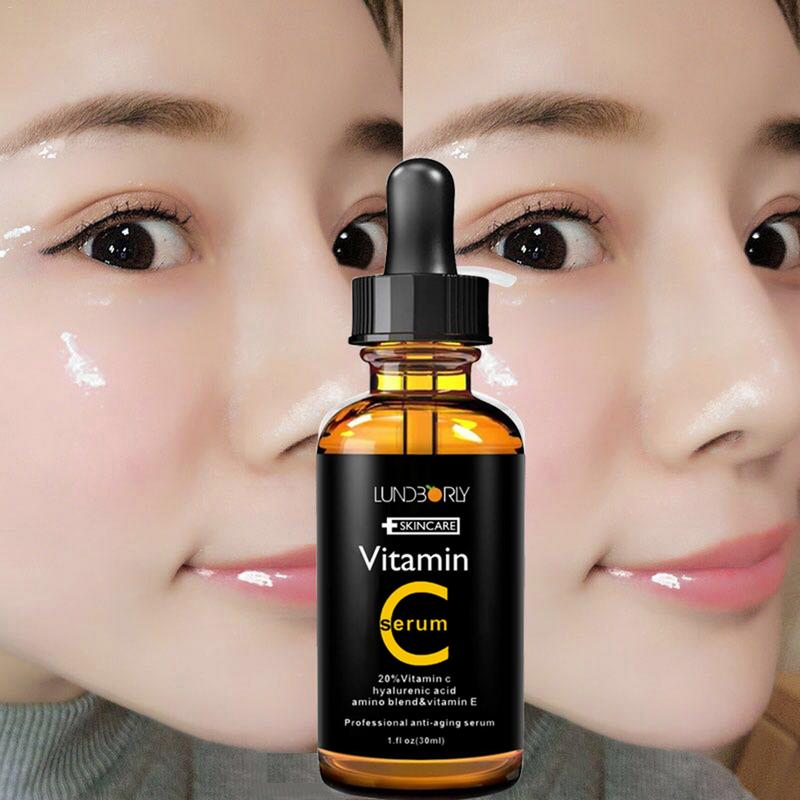 30ml Hyaluronic Acid Serum Vitamin C vitamin E essence Vitamin C Moisturizing Essence Skin Care anti-Wrinkle Lifting Tight