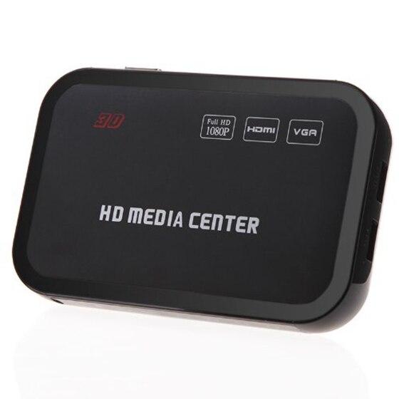 Lecteur multimédia Full HD 1080 P lecteur vidéo multimédia RM/RMVB/AVI/MPEG avec télécommande HDMI YPbPr VGA AV USB SD/MMC