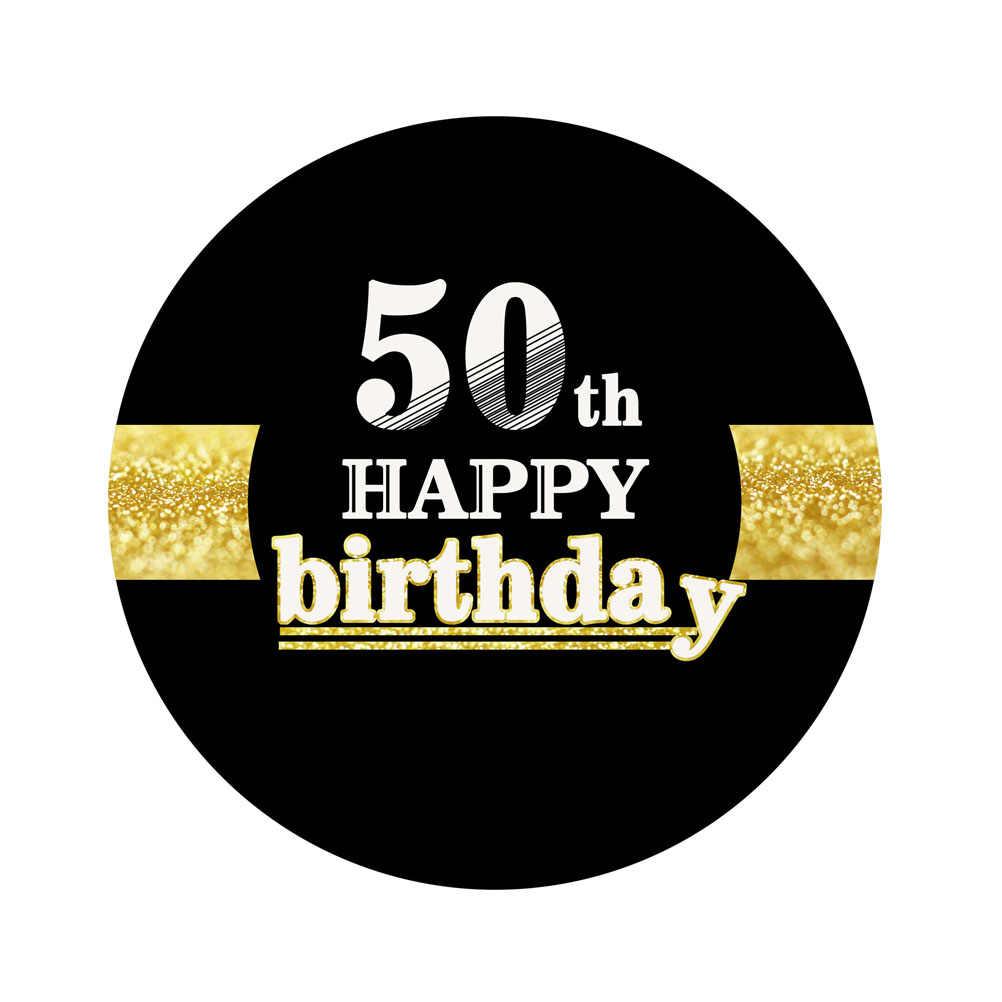 12 piezas Topper de la torta de 50th cumpleaños feliz creativo Chic de pastel comida Topper decoración recoge fiesta suministros