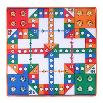 80CM Baby Playing Mat Game Pad Flying Chess Carpet Brains Developing Kids Educational Chess DiceToys