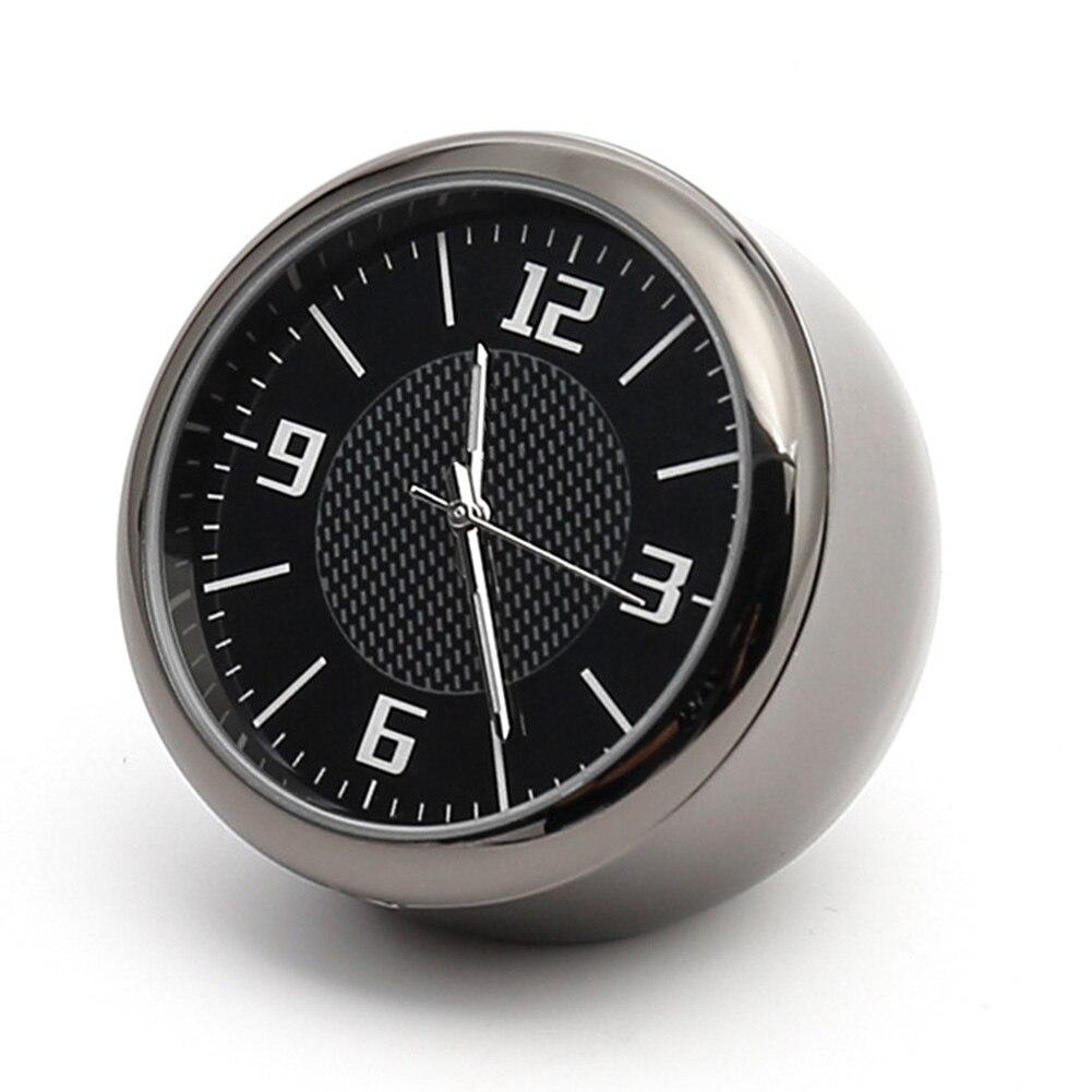 Accessories Outlet Gauge Interior Round Quartz Car Clock Universal Auto Needle Mini Luminous With Clip Portable Air Vent