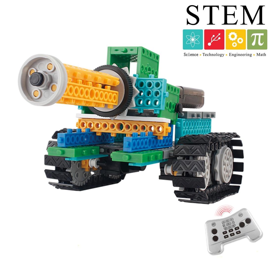 237 pièces 4-en-1 4CH bricolage modifiable RC réservoir Robot assemblage vapeur modèle bloc de construction Creative Science apprentissage jouet éducatif