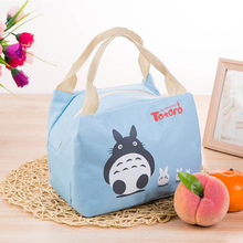 Fashion Portable Cartoon Cat Thermal Cooler Insulated Waterproof  Lunch Carry Storage Picnic Bag Pouch for Women Kids