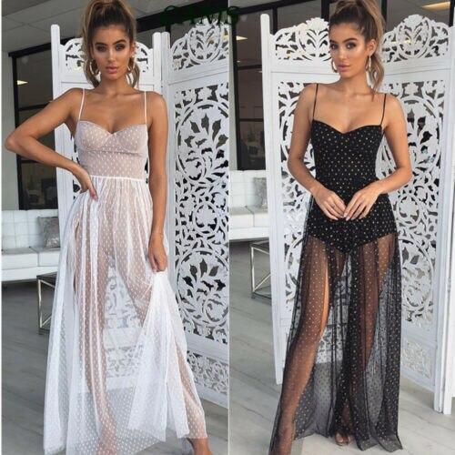 dd828c17f1413d7 2019 новые модные женские Boho перспектива кружево Макси платье Пляжная  накидка платья для женщин ванный комплект