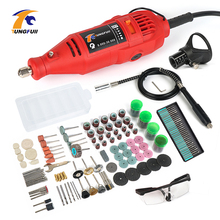 цена на TUNGFULL Engraver Electric 220V 130W Rotary Tool Set Variable Speed Power Tool Accessories Electric Grinder Grinding Machine
