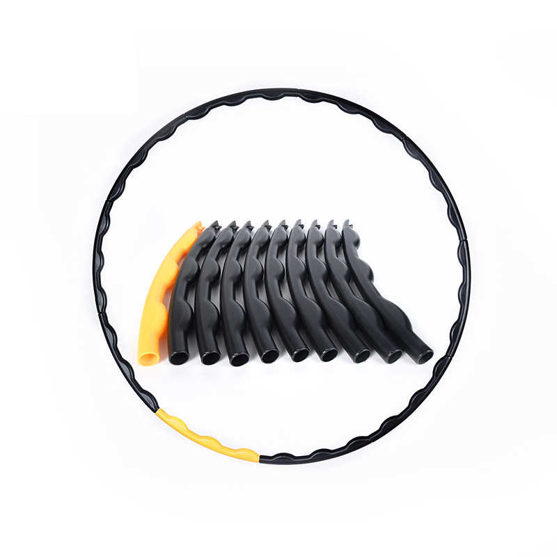 Ten Sections Are Detachable Adult Abdomen Massage Sport Hoop Exercise Body Workout Circle Fitness Hoop Equipments