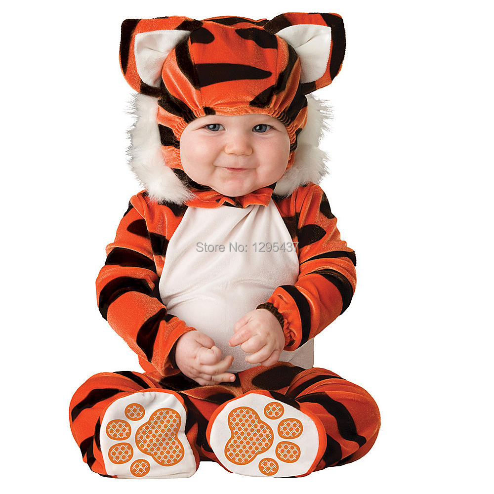 New Infant Toddler Baby Girls Boys Tiger Animal Costume Halloween Dress up Cosplay Outfits Purim Holiday Costume
