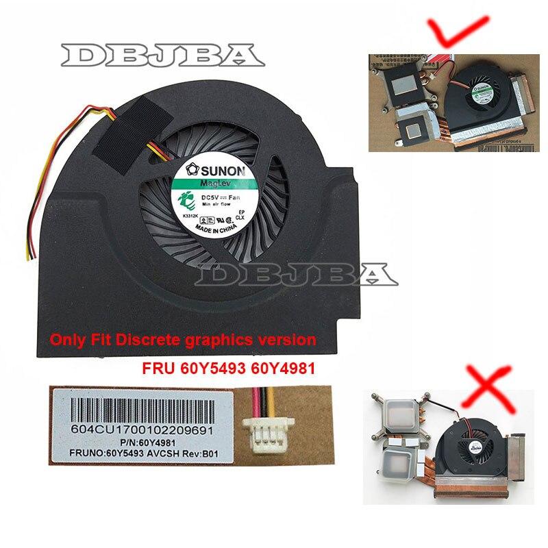 CPU FAN For Lenovo Thinkpad W510 FRU 60Y5493 60Y4981 GC055010VH A 13.V1.B4160.F.GN Laptop Fan Discrete graphics|cooling fan|laptop cooling fan|laptop fan - title=