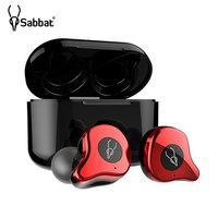 Sabbat E12 TWS Bluetooth 5.0 Headset Binaural Stereo In ear Mini Wireless HiFi Earbuds Built in Mic With Fast Charging Case