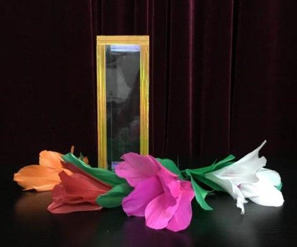 Fleur magique japonaise du Tube de cristal-gros plan tours de magie, tours d'illusion, apprenti magicien d'illusion, accessoires de magie