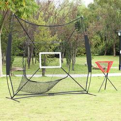 Baseball Train Net With Single Target Frame & Collector Tube Black Sleevelet Good Quality Useful Equipment