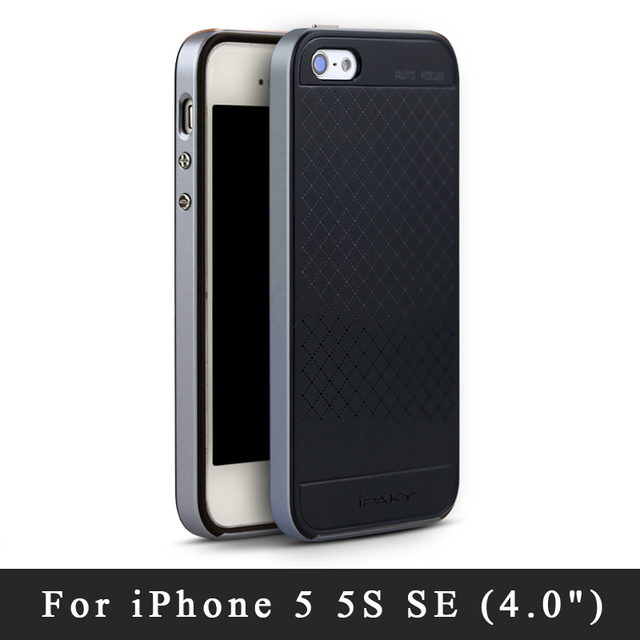 online retailer 61131 c3b54 iPaky Cases For iPhone se Case Cover For iphone 5S Silicone Back Cover + PC  Frame Coque For iphone 5se 5S 5 S Cases For iPhone5