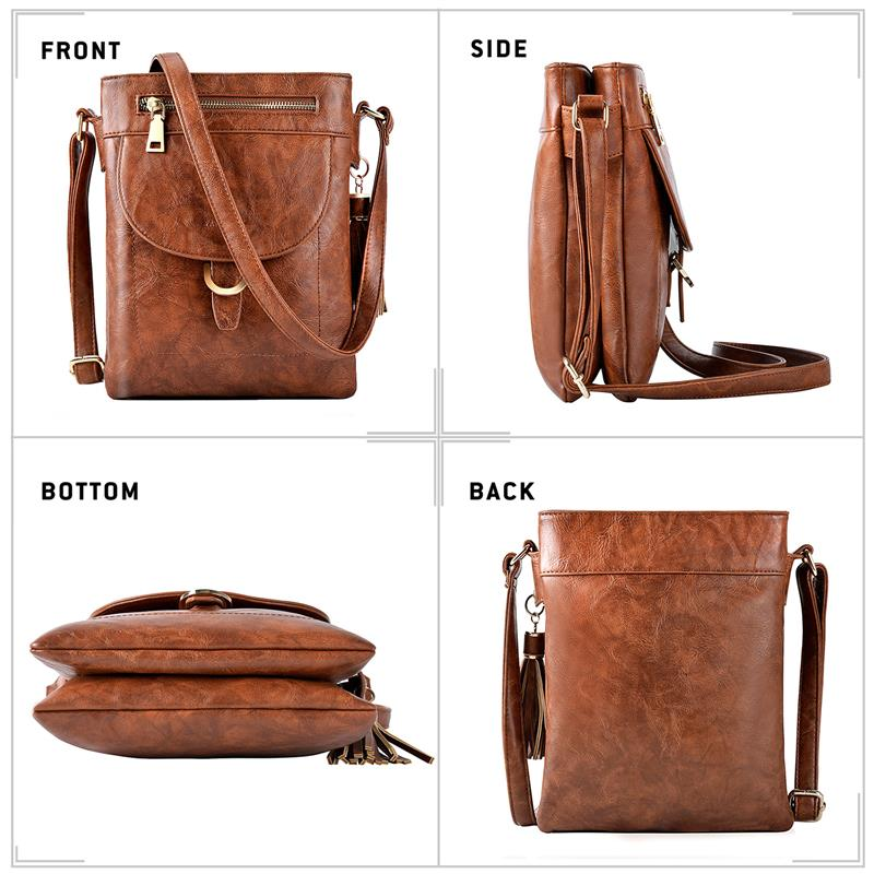 Bageek Retro Soft Bag Flap Crossbody Bags Women Shoulder Bags Tote Purse Small Messenger Bags Clutch Tassel Bucket Pouch in Top Handle Bags from Luggage Bags